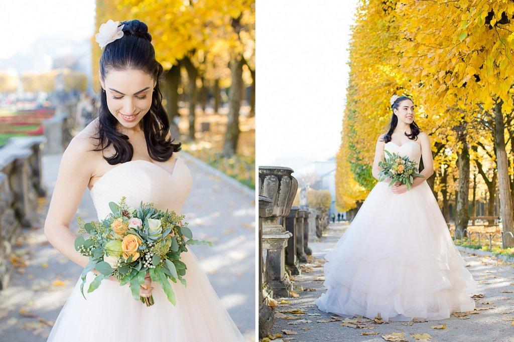 Prinzessinnen Hochzeit Salzburg Shooting Bridal