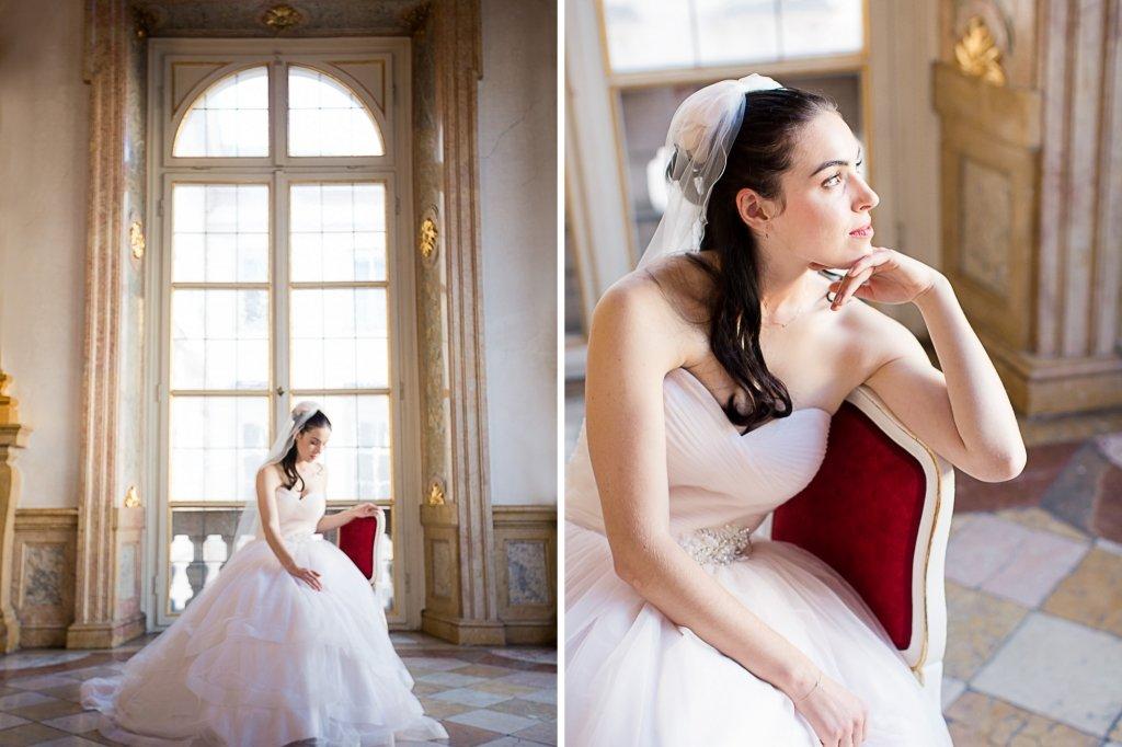 019_Braut Hochzeit Prinzessin Salzburg Marmorsaal Shooting