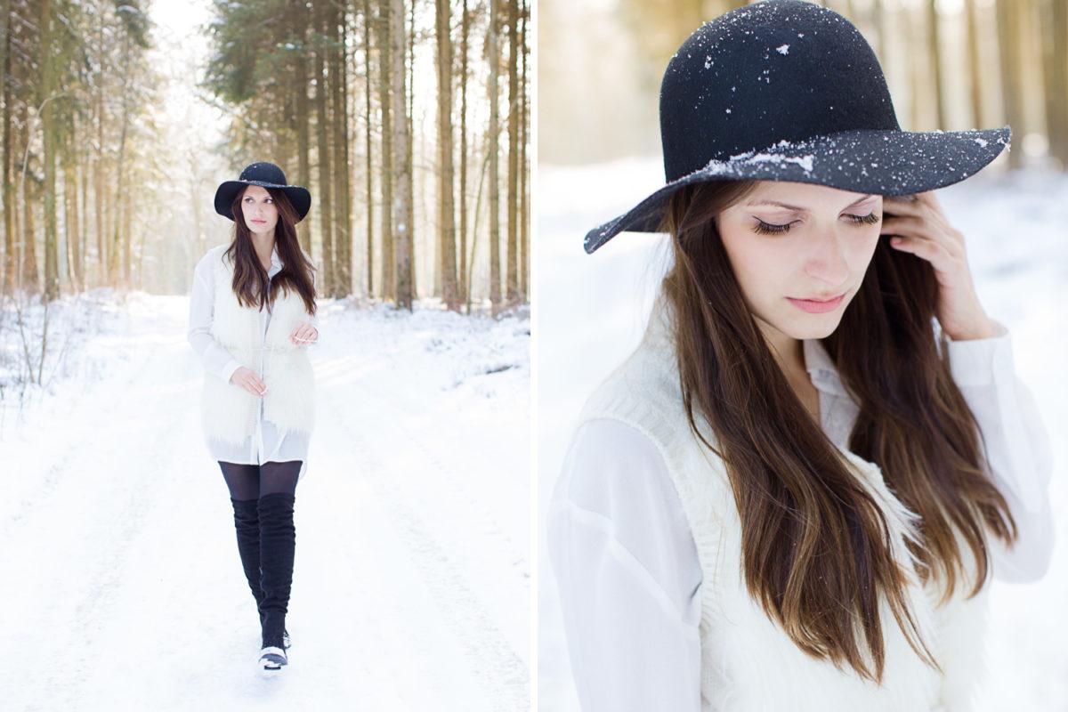 Winter Portraitshooting Bachtal