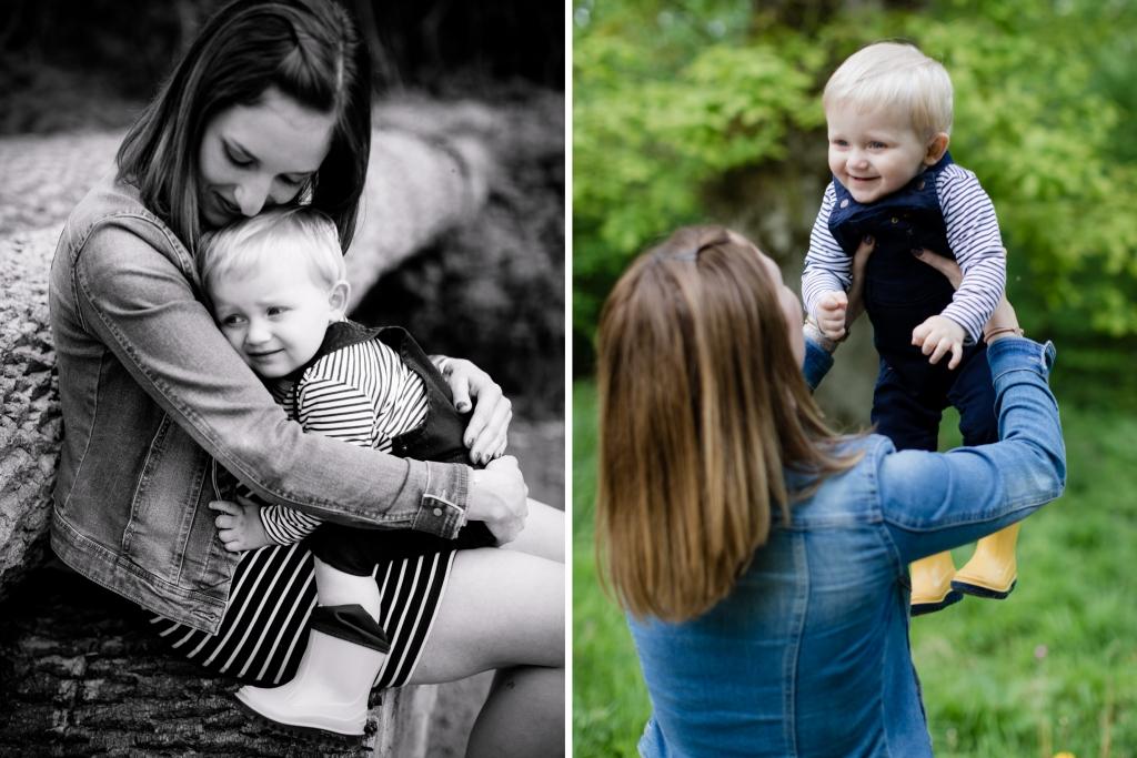 Mama Fotoshooting mit Sohn