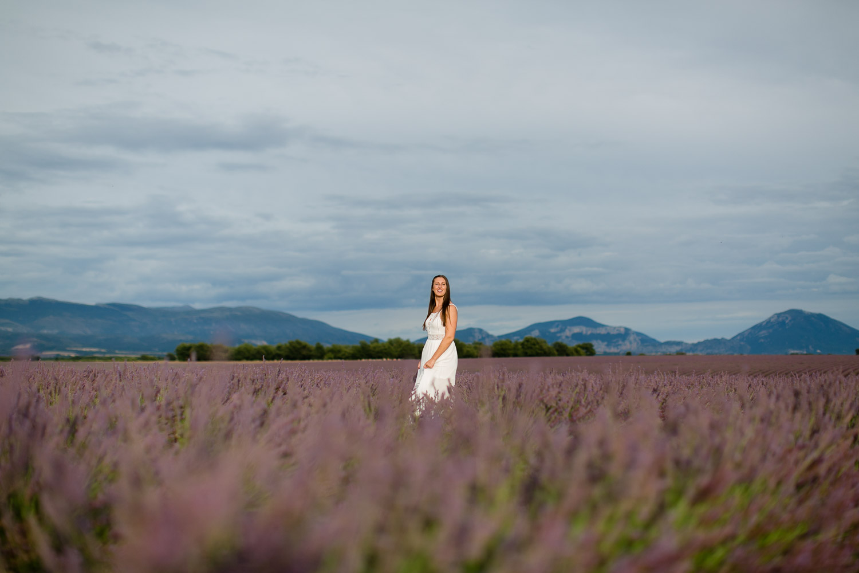 Lavendelfeld Fotoshooting