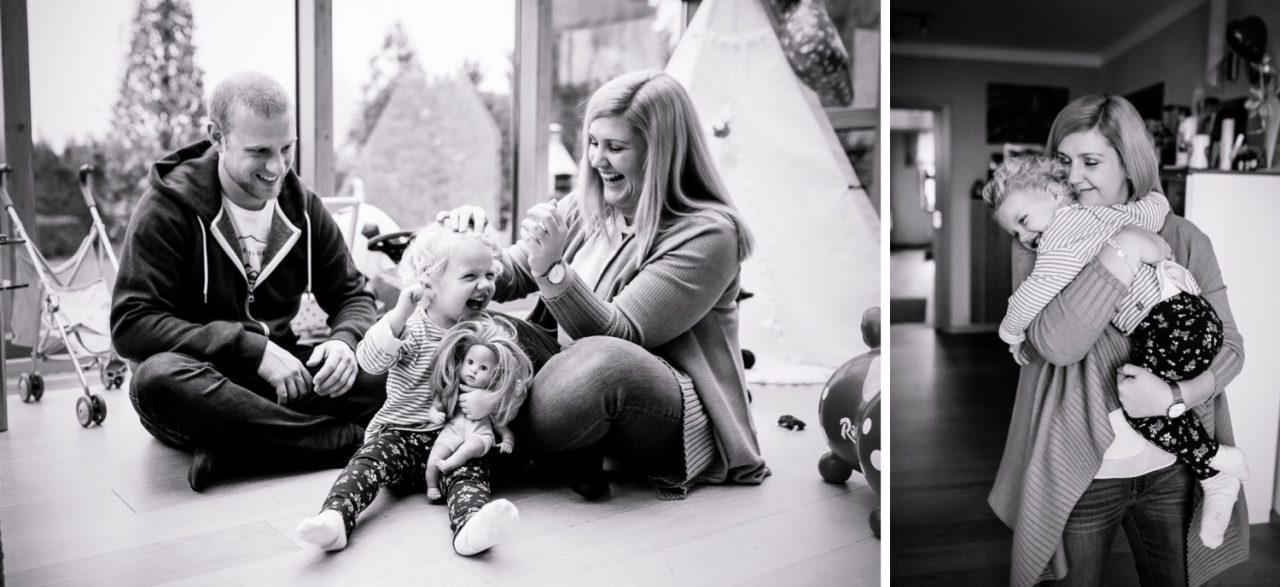 Familienfotoshooting mit Kind indoor Gundelfingen