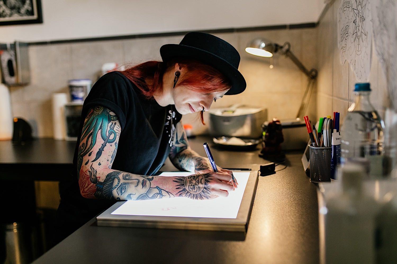 Businessfotoshooting im Tattoostudio